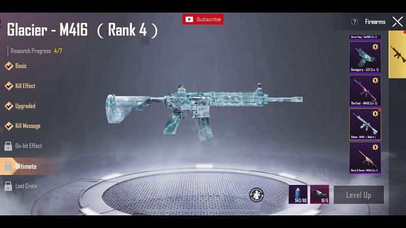 The Glacier M416 skin (Image via Desiround/ YouTube)