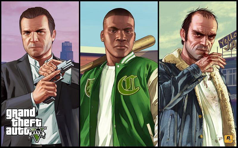 Trois protagonistes mémorables (Image via Rockstar Games)