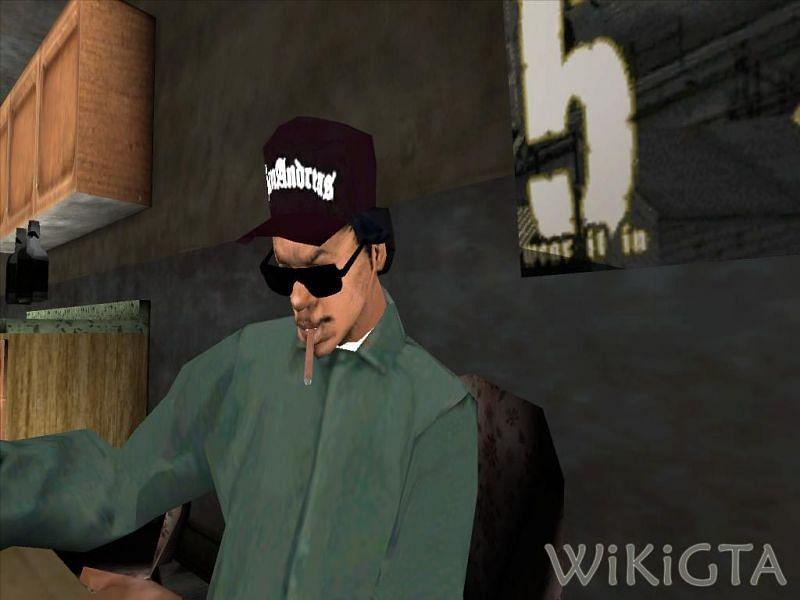 Ryder a trahi CJ dans GTA San Andreas (Image via WikiGTA)
