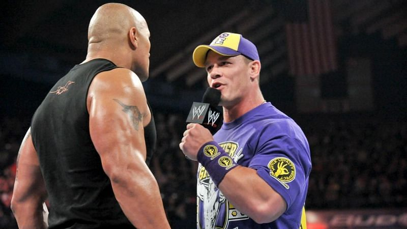 John Cena faced The Rock at back-to-back WrestleMania events in 2012 and 2013