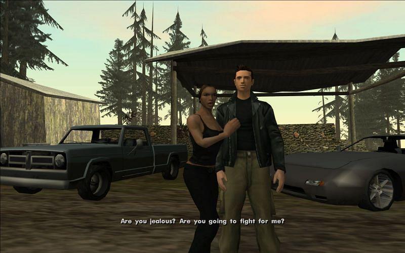 Catalina fails to make CJ jealous (Image via GTA Wiki)