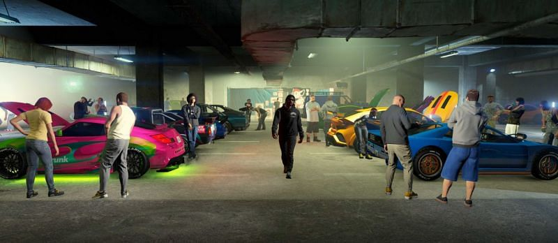 The LS Car Meet will be a great place to show off a player's sweet rides (Image via Rockstar Games)