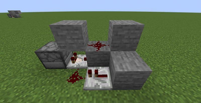 Coloque dos bloques (Imagen a través de Minecraft)