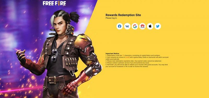 Guest users can link their ID to one of the 6 platforms(Image via Free Fire)
