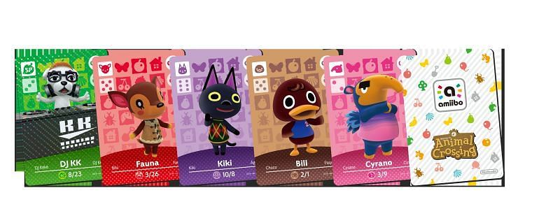 Amiibo cards. Image via Animal Crossing World