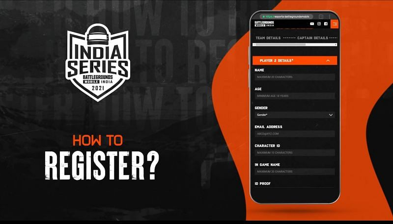 The Battlegrounds Mobile India Series registration process page 2/2 (Image via BGMI official website)