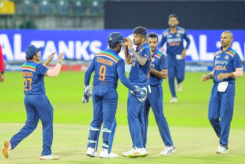Team India during the 3rd ODI against Sri Lanka (Pic: BCCI)