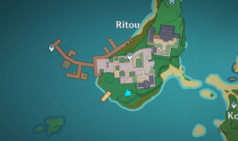 Location of the old house on the map (Image via Genshin Impact)