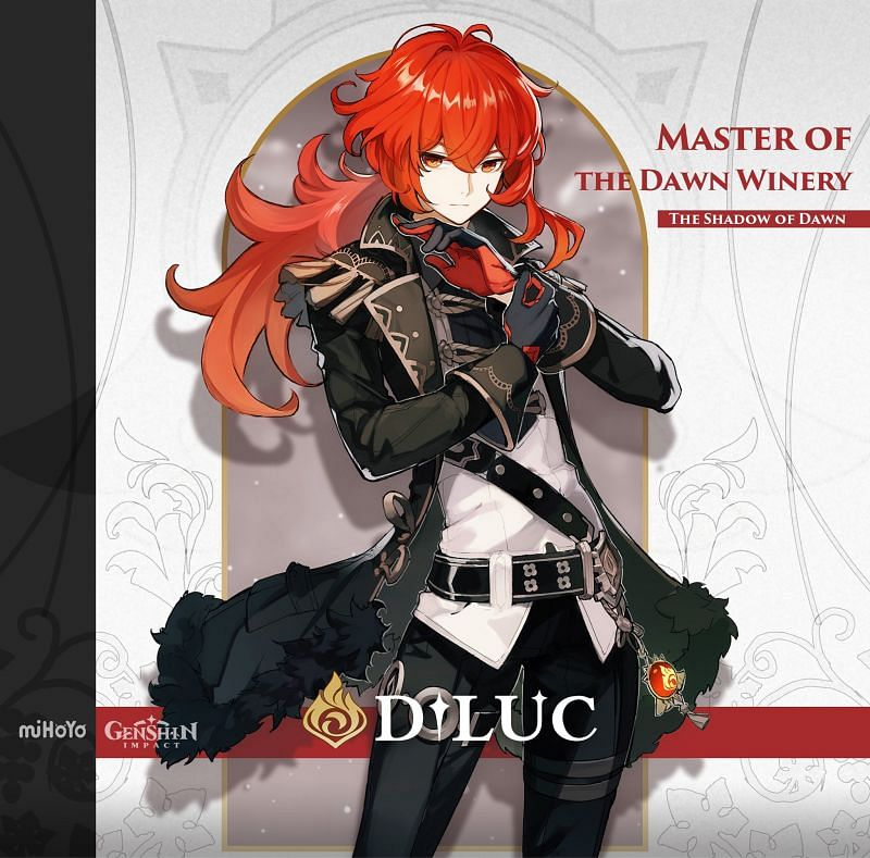 Characters like Diluc are fine for this battle (Image via Genshin Impact Wiki)