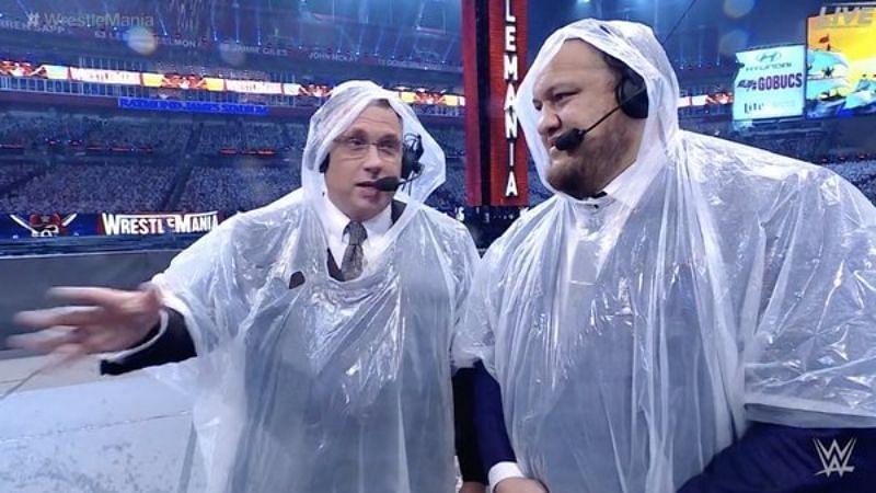 WrestleMania 37 में बारिश का खलल