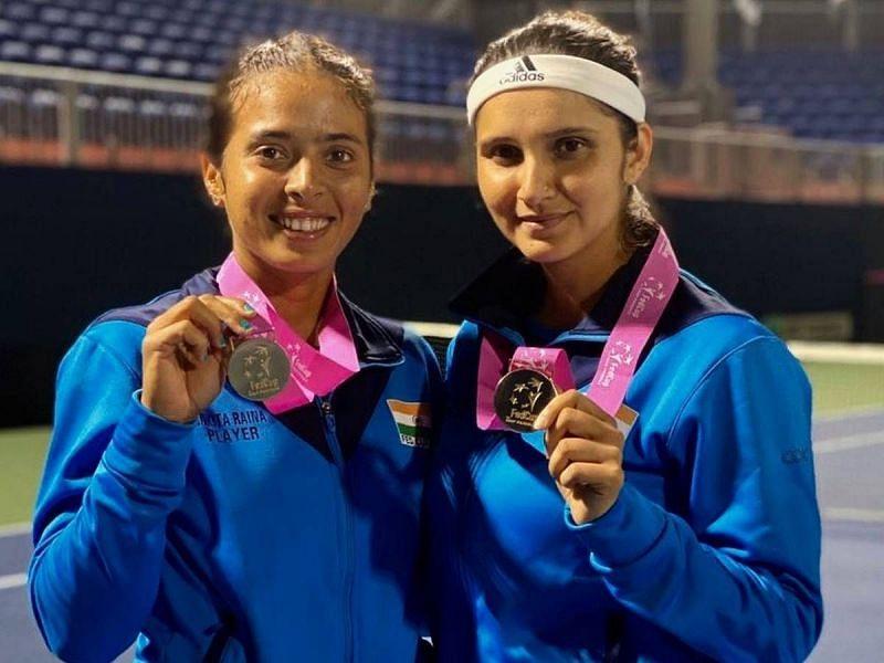 Ankita Raina and Sania Mirza