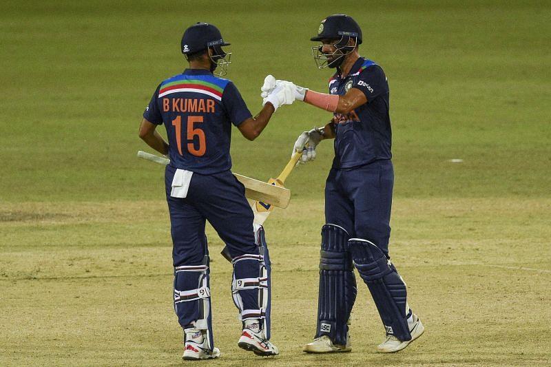 Deepak Chahar and <a href='https://www.sportskeeda.com/player/bhuvneshwar-kumar' target='_blank' rel='noopener noreferrer'>