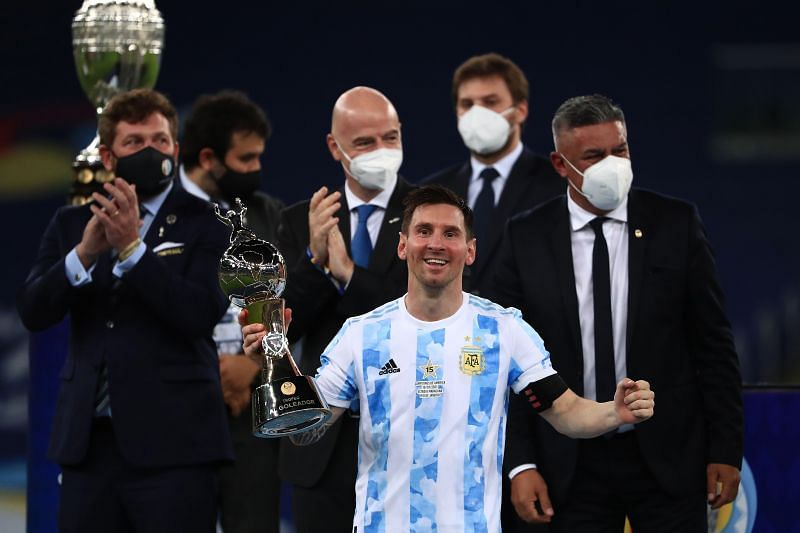 Lionel Messi won the Copa America 2021 title with Argentina.