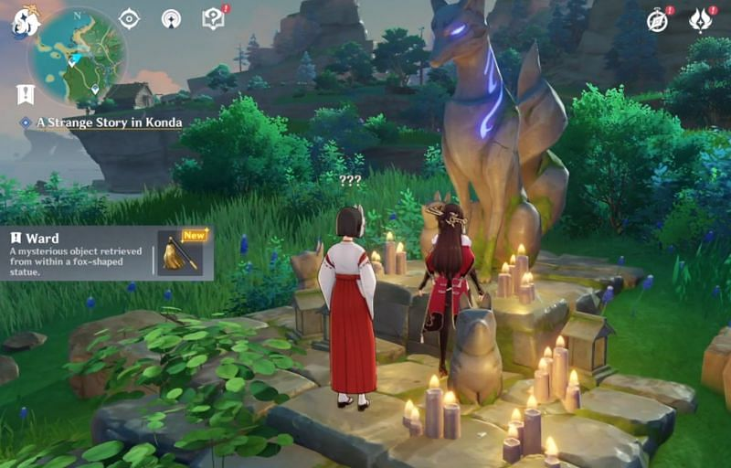 Obtain the Quest Item 'Ward' in Genshin Impact (Image via Genshin Impact)