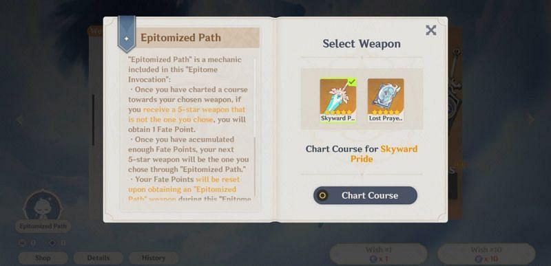 Epitomized Chart Course (Image via Mihoyo)