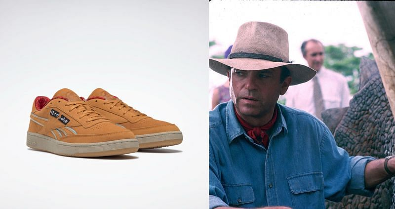 Club C 85 - Alan Edition and Dr. Alan Grant (Image via Reebok, and Universal Pictures)