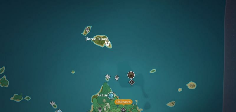 Playters will want to head to Jinren Island (Image via Genshin Impact)