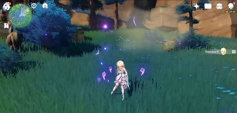 The Traveler's Electro Elemental Burst (Image via abc64real)