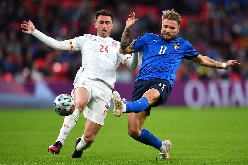 Immobile had a tough time leading the line for Italy and was hooked on the hour mark