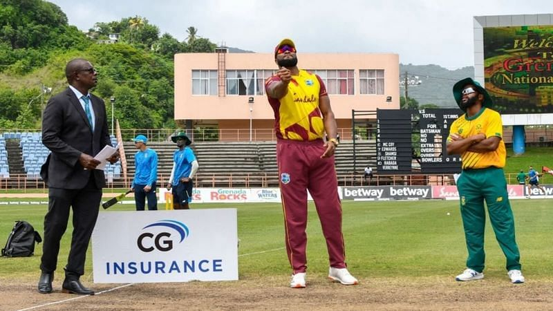 West Indies will face South Africa in the fourth T20I on Thursday (Credits: Twi