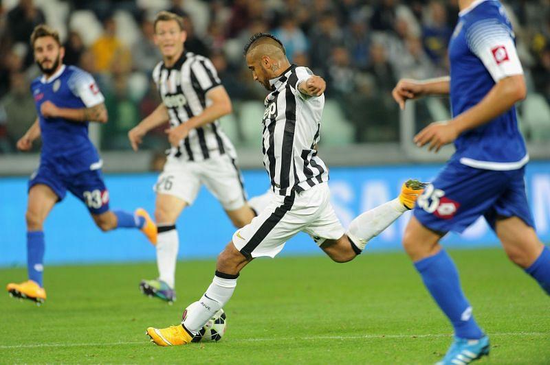 Arturo Vidal in action for Juventus