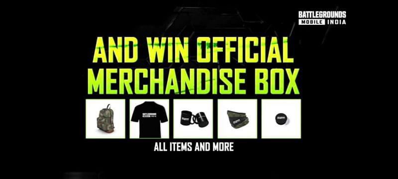 The official BGMI merchandise box. (Image via Battlegrounds Mobile India, YouTube)