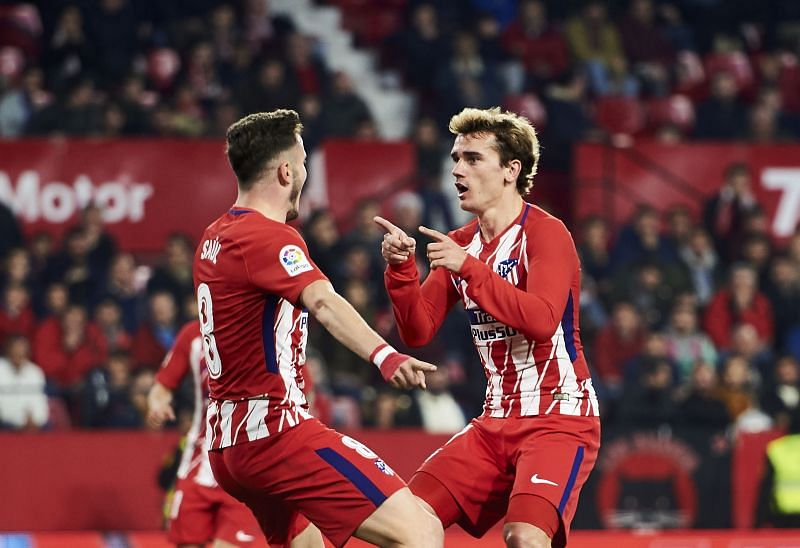 Saul and Griezmann were teammates at Atlético Madrid. (Photo by Aitor Alcalde/Getty Images)