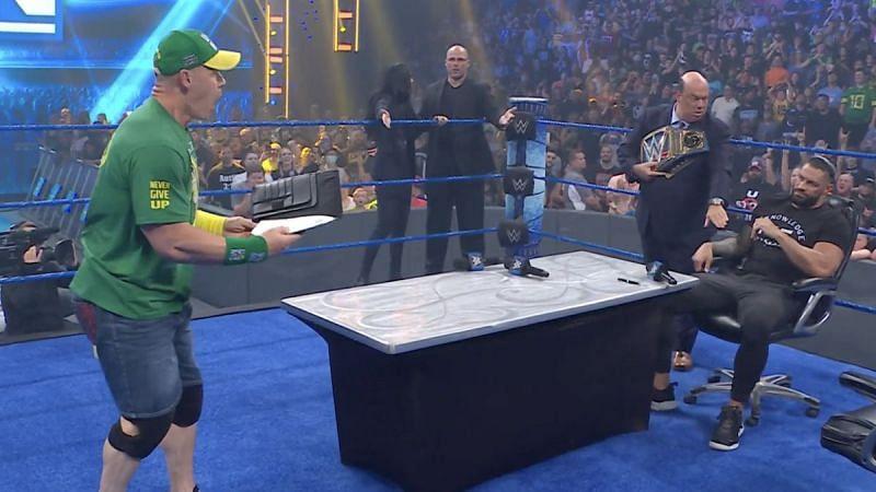 John Cena got his match against Roman Reigns at SummerSlam