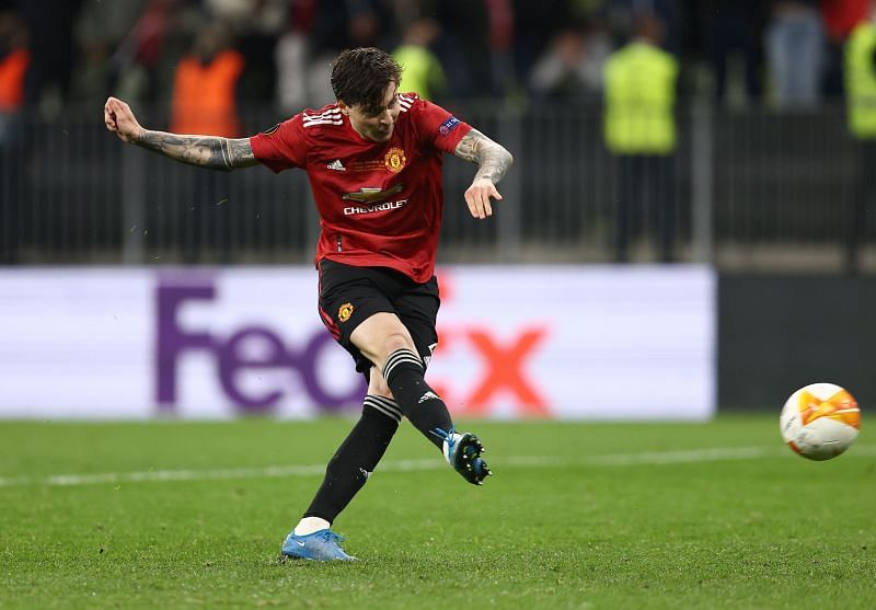 Lindelof in action for Manchester United.