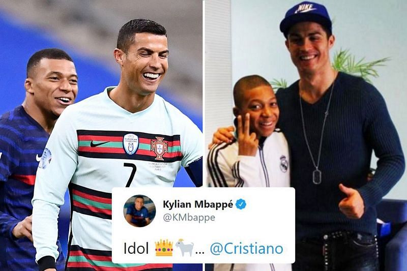 Kylian Mbappe is one of several big-name players who idolise Cristiano Ronaldo.