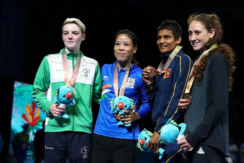 Mary Kom at the Commonwealth Games