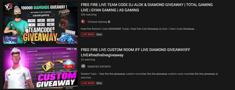Giveaways on YouTube (Image via YouTube)