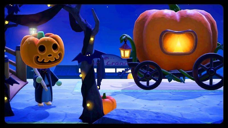 Animal Crossing: New Horizons Halloween items in update 1.11.0 (Image via YouTube)