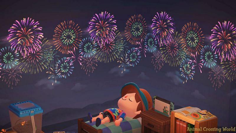 Fireworks celebration. Image via Twitter