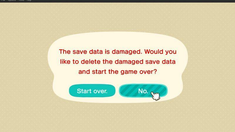 Memulai kembali di Animal Crossing: New Horizons (Gambar via Reddit)