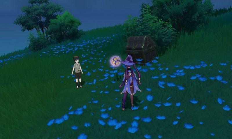 Kid Kujirai and his Temari are part of a fun minigame players can find in Inazuma (Image via FutureVenti)