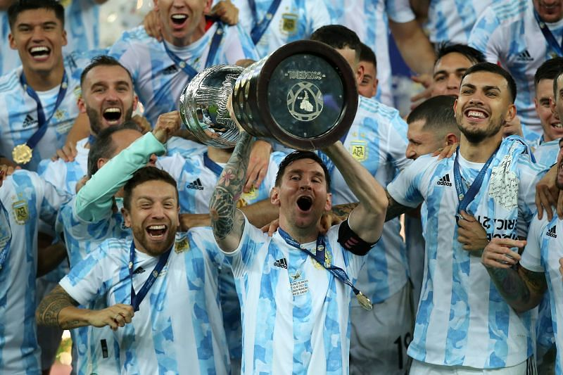 Messi won his first international trophy with Argentina at the Copa America 2021