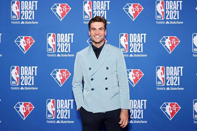 Washington Wizards no. 15 pick Corey Kispert at the 2021 NBA Draft