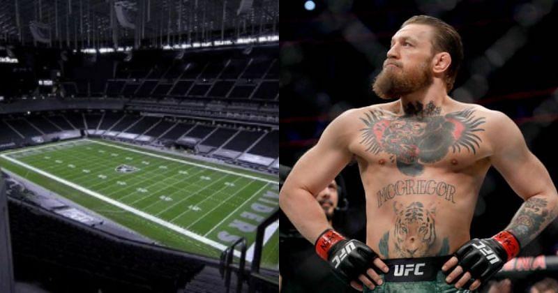 Conor McGregor wants to fight at the Allegiant Stadium. (Image credits: @allegiantstadium via Instagram)