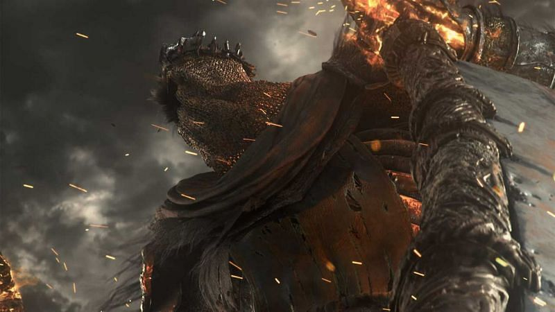 Yohrm the Giant can be easily defeated using the Storm Ruler (Image via From Software)