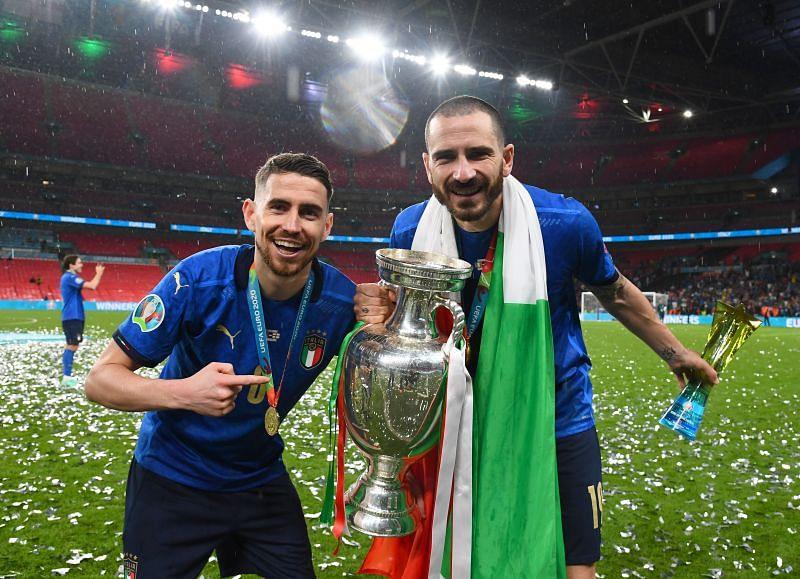 Jorginho and Leonardo Bonucci were two of the most important players for Italy at UEFA Euro 2020