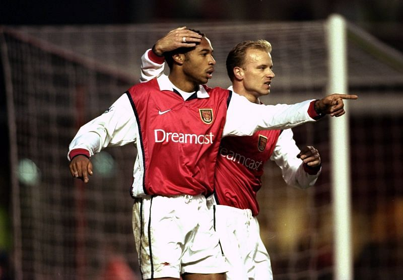 Thierry Henry and Dennis Bergkamp