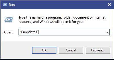 Windows run menu