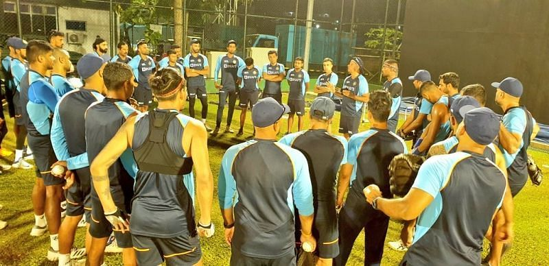 Ind Vs Eng 2021 Bcci Shares Picture Of Team India S First Practice Session Under Lights In Sri Lanka