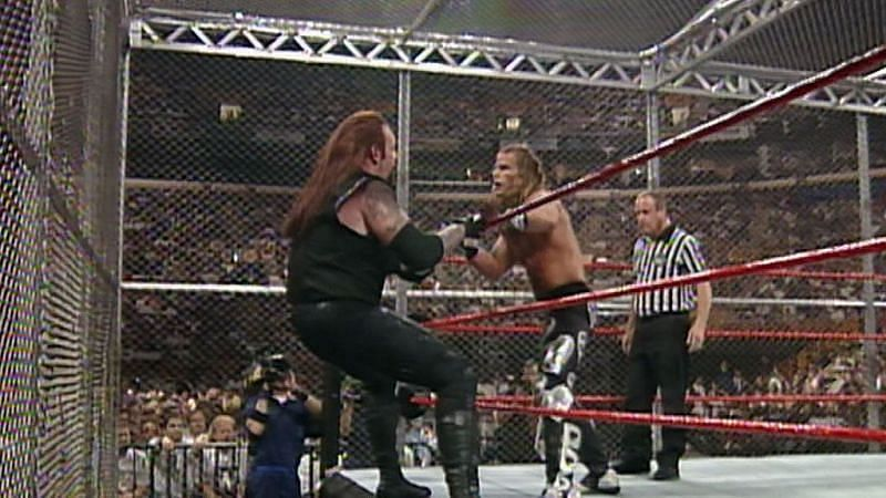 Shawn Michaels vs Undertaker in the first-ever Hell in a Cell match