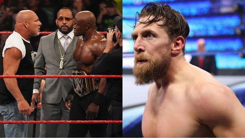 गोल्डबर्ग, WWE चैंपियन बॉबी लैश्ले और डेनियल ब्रायन
