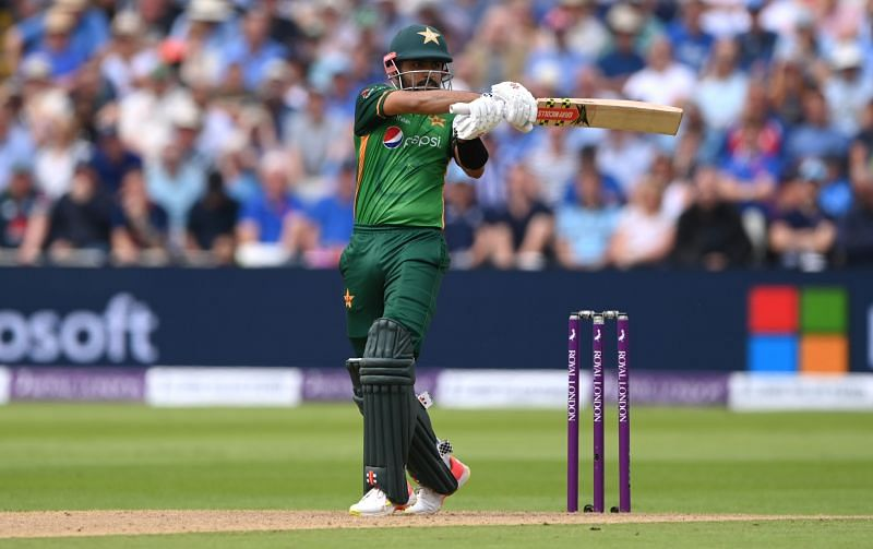 Babar Azam played a 158-run knock in the third ODI against England