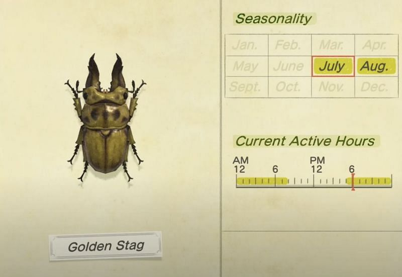 Golden Stag in Animal Crossing: New Horizons (Image via King Ryrex)