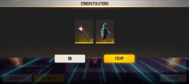 Both the rewards can be claimed through the mail system (Image via Free Fire)