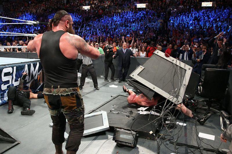 Braun Strowman incapacitated Brock Lesnar at SummerSlam 2017.